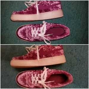 Crushed Pink Velvet Nike Air Force One